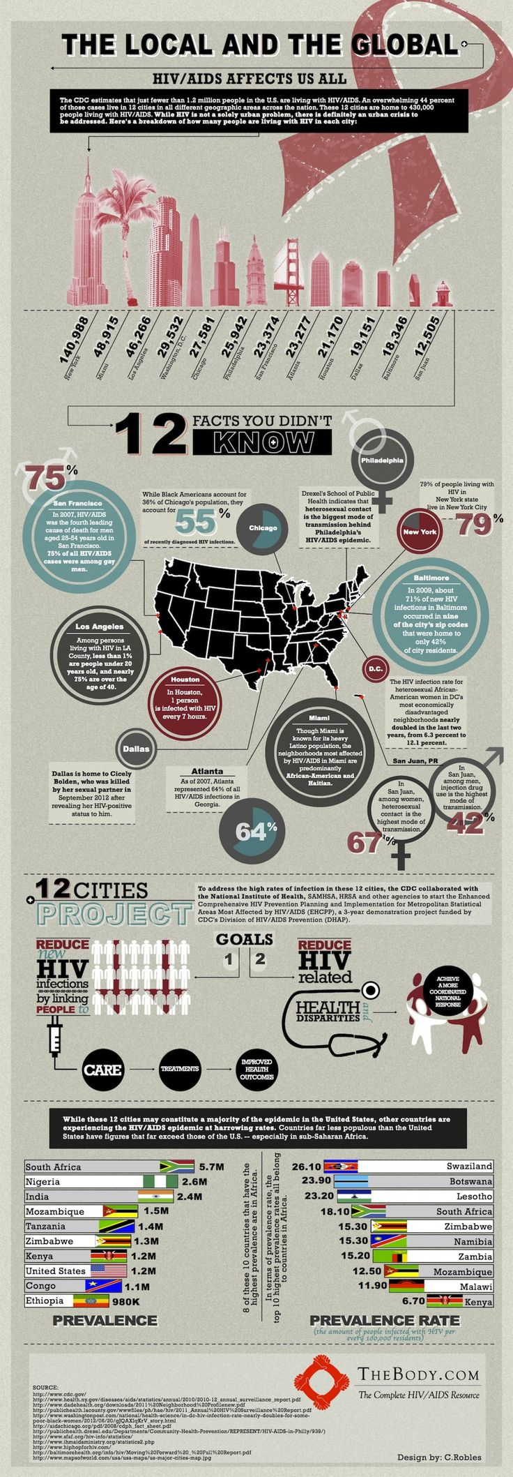 HIV/AIDS - The Local and the Global  Infographic