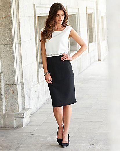 JOANNA HOPE Jewel Trim Contrast Dress