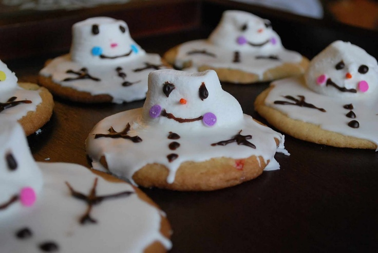 The Moody Fashionista: Melting Snowman Cookies