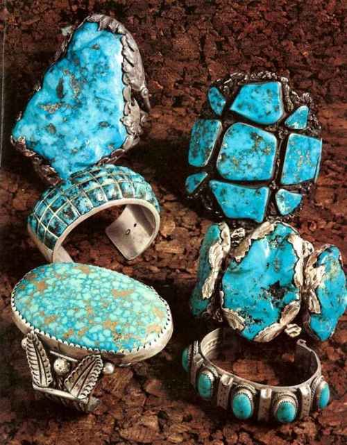 Turquoise rings..