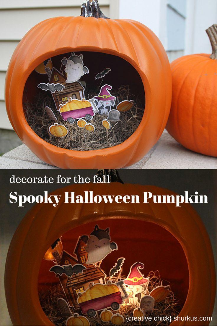 Spooky Halloween Pumpkin with Lawn Fawn | shurkus.com