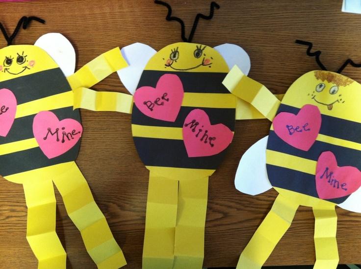 Bee-Mine: Valentines Ideas, Bees Mine, Schools Ideas, Classroom Valentines, Preschool Ideas, Mine Bees, Valentines Day, Preschool Crafts, Bees Crafts