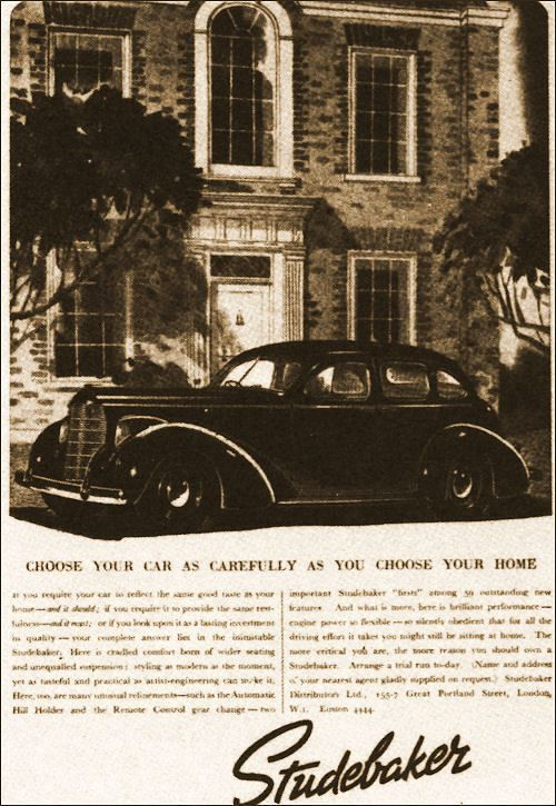 1938 studebaker advert