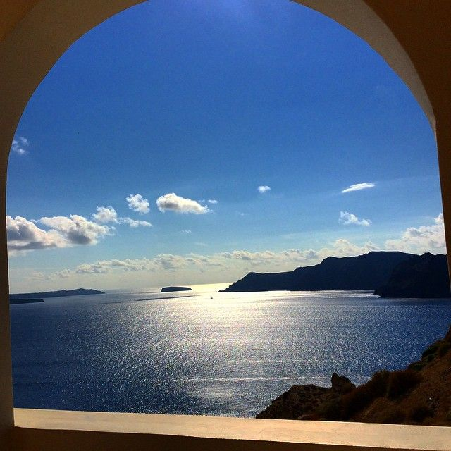 View of #Santorini from the suite at #AndronisExclusive Thank you for sharing @alicetangerine !