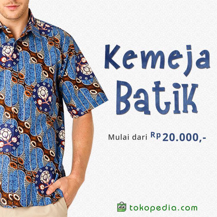Ngaku bangga dengan warisan nusantara? Rajin-rajin pakai Kemeja Batik yuk. Orang bule aja bangga, masa kamu enggak? Kemeja batik dapat kamu beli dengan harga mulai dari Rp 20.000,- di http://www.tokopedia.com/p/pakaian/batik/kemeja