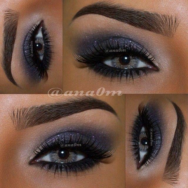 Makeup con sfumature blu lucente come la notte http://www.mitrucco.it/