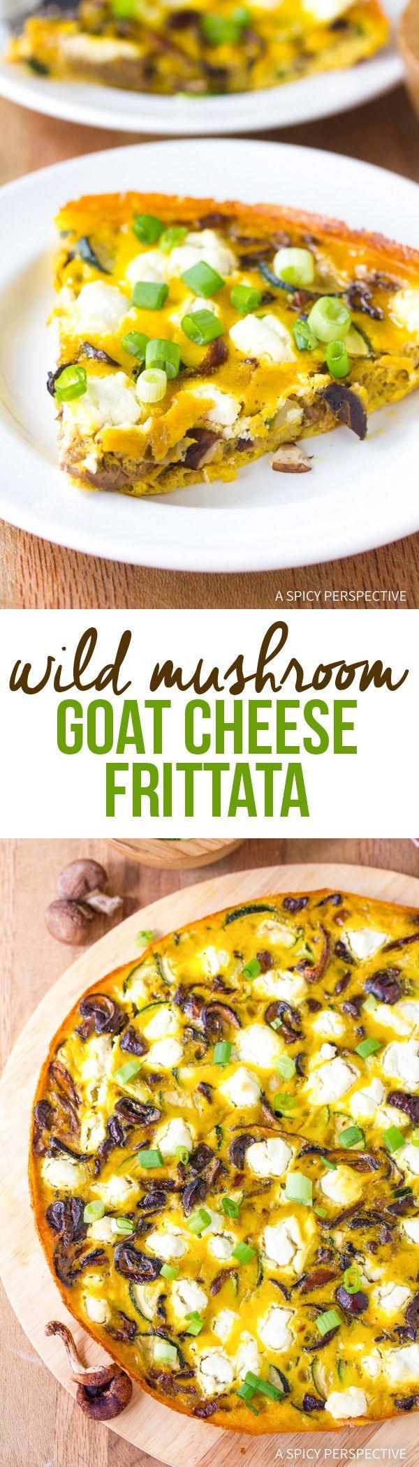 Amazing Wild Mushroom and Goat Cheese Frittata Recipe