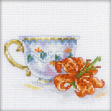 Cross Stitch Craze: Cross Stitch - Lily Tea Party