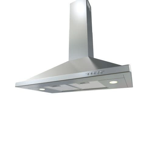 Zephyr BVE-E36AS 600 CFM 36 Inch Wide Wall Mounted Range Hood with Halogen Lighting and Washable Aluminum (Silver) Mesh Filters from the (Stainless Steel)