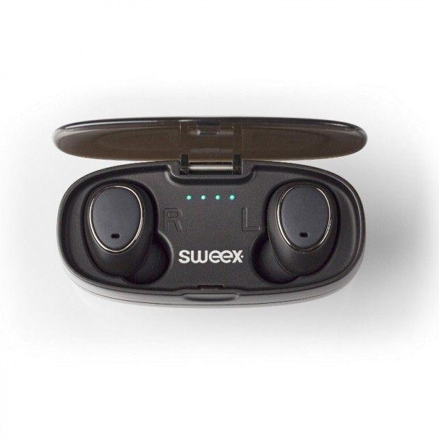 Sweex hodetelefoner i øret,  Svart | Satelittservice tilbyr bla. HDTV, DVD, hjemmekino, parabol, data, satelittutstyr