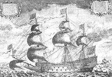 A razee or razée /rəˈziː/[1] is a sailing ship that has been cut down (razeed) to reduce the number of decks. The word is derived from the French vaisseau rasé, meaning a razed (in the sense of shaved down) ship.[2]