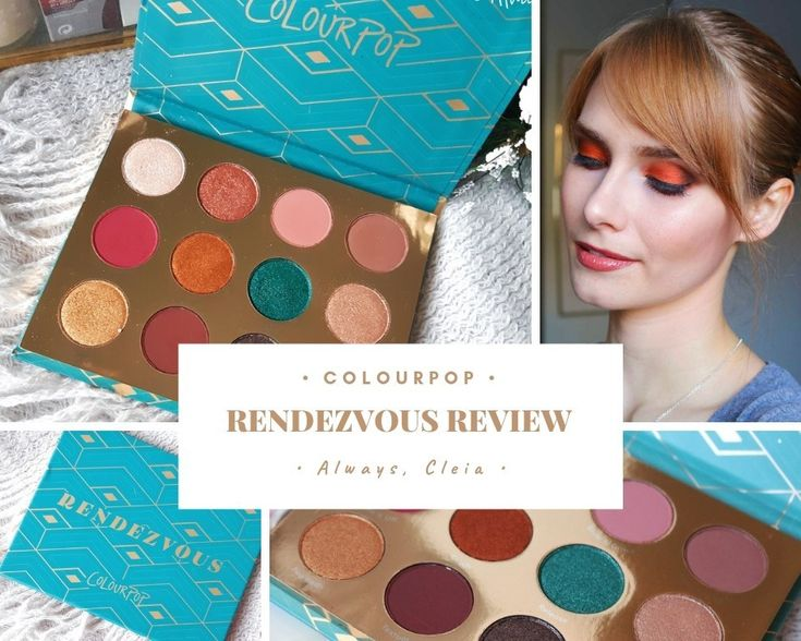 Colourpop rendezvous eyeshadow palette review swatches