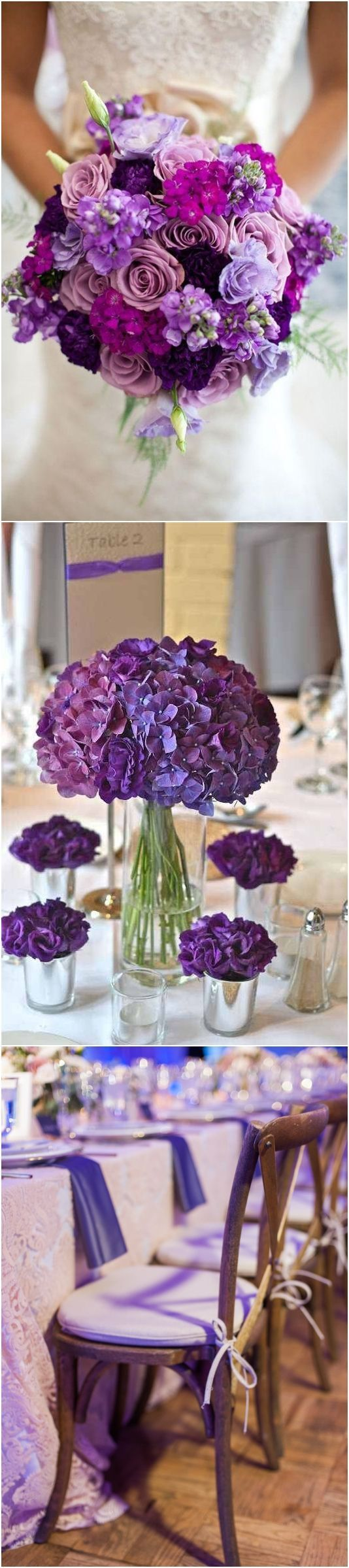 pantone wedding color 2018- Ultra violet purple wedding color ideas / http://www.deerpearlflowers.com/ultra-violet-wedding-color-palette-idea/