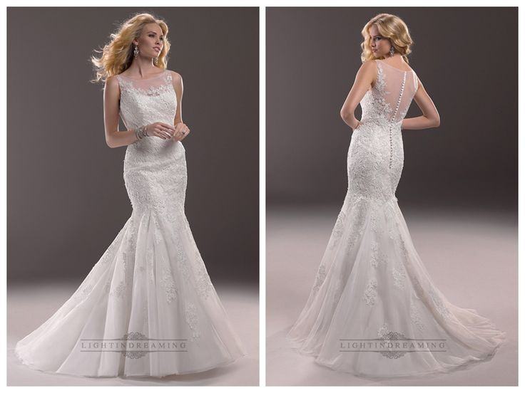 Fit and Flare Illusion Bateau Neckline Lace Wedding Dresses with   Illusion Back  #wedding #dresses #dress #lightindream #lightindreaming #wed #clothing   #gown #weddingdresses #dressesonline #dressonline #bride http://www.ckdress.com/fit-and-flare-illusion-bateau-neckline-lace-  wedding-dresses-with-illusion-back-p-165.html