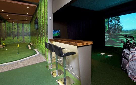 1000 images about indoor golf on pinterest golf for Indoor golf design