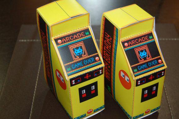 Personalized PRINTABLE Retro Arcade by WendysPrintableParty, $7.00