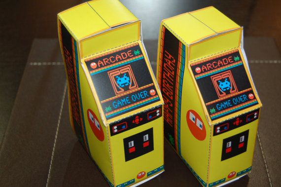 Personalized PRINTABLE Retro Arcade by WendysPrintableParty, $7.00