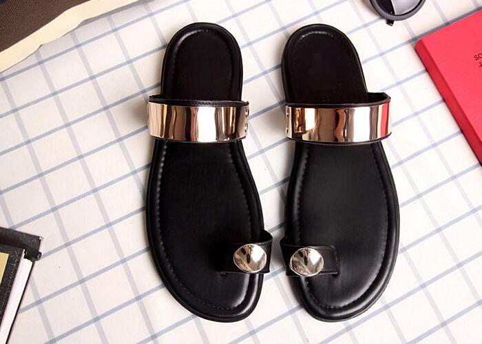 2015 nuovi uomini di modo sandali casual scarpe di cuoio traspirante fibbia sandali romani sandali gladiatore  (China (Mainland))