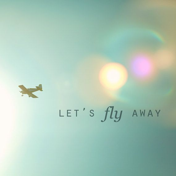 Airplane Photo  8x8 Fine Art Photography Let's by kimfearheiley, $30.00