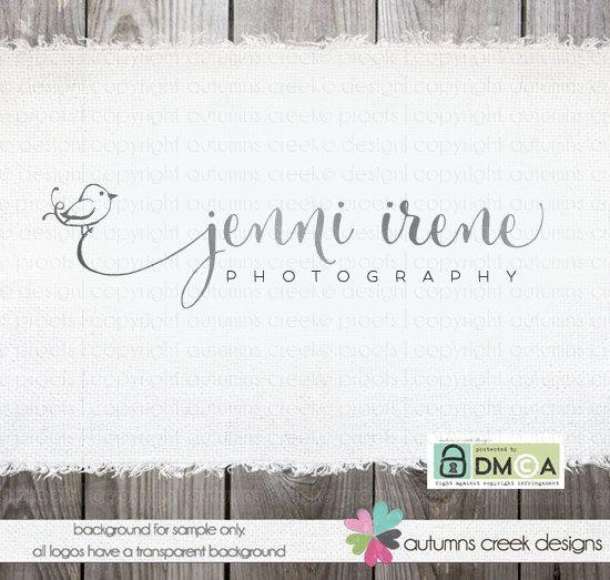 Photography Logo  premade bird  logo design for by autumnscreek, $40.00