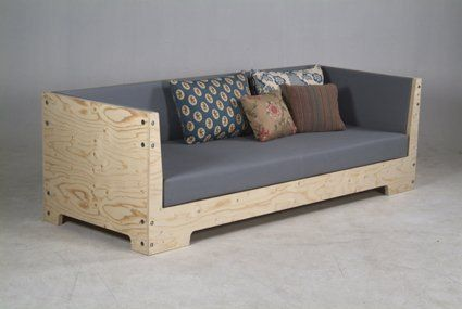 I want a long couch for allllll my friends to sit on. :) • Plywood Sofa by Piet Hein Eek   — Boston