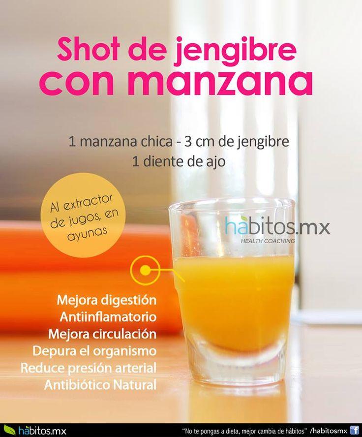 Hábitos Health Coaching | SHOT DE MANZANA CON AJO