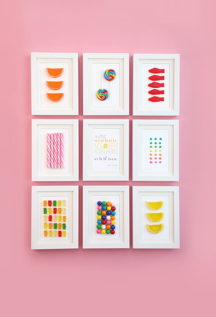 love candy? why not frame it and use it as art in you home!