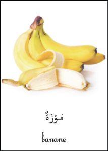 Les nomenclatures Montessori en arabe... Les fruits