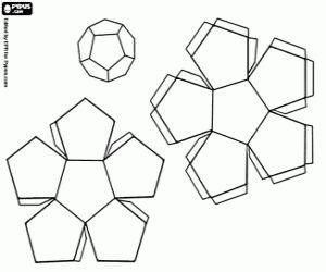 malvorlagen Zwölf seitig Polyeder, Dodekaeder ausmalbilder