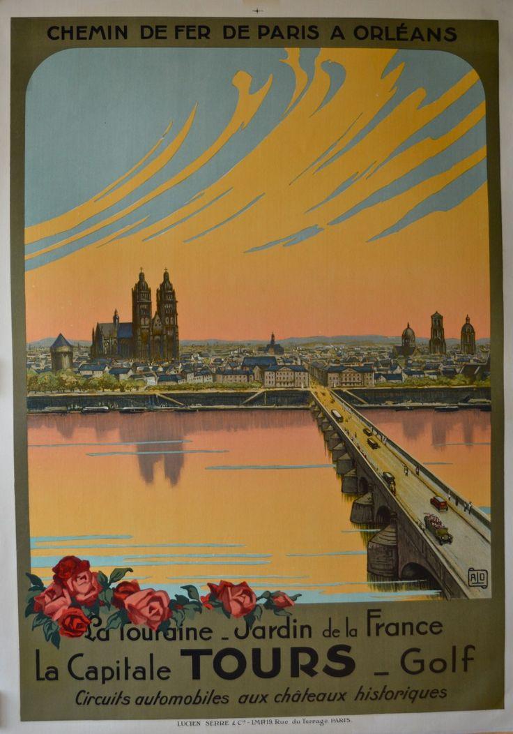 231 best posters france paris orleans railway images on pinterest vintage travel posters. Black Bedroom Furniture Sets. Home Design Ideas