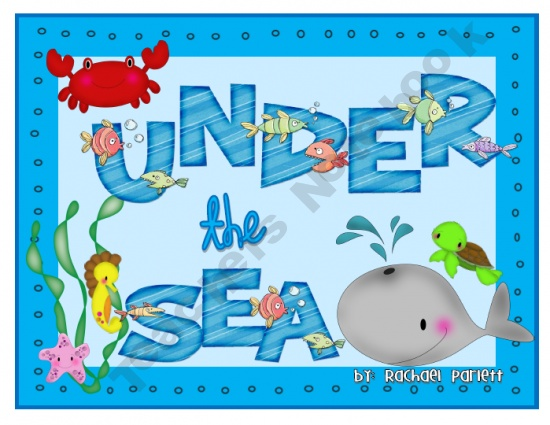 """FREEBIE - Blank board game with """"Under the Sea"""" theme!  Create your own review game!  Easy and done!"""
