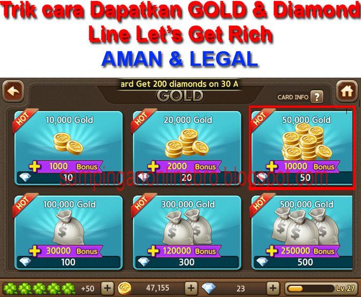 Tutorial Android Indonesia: Trik Cara dapatkan Gold & Diamond Line Let's Get R...