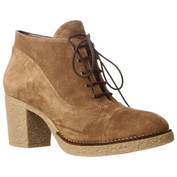 Carvela Scarp Heeled Desert Boots, Camel (11.935 HUF) found on Polyvore featuring women's fashion, shoes, boots, slippers, desert bootie, carvela shoes, camel shoes, desert ankle boots and carvela boots
