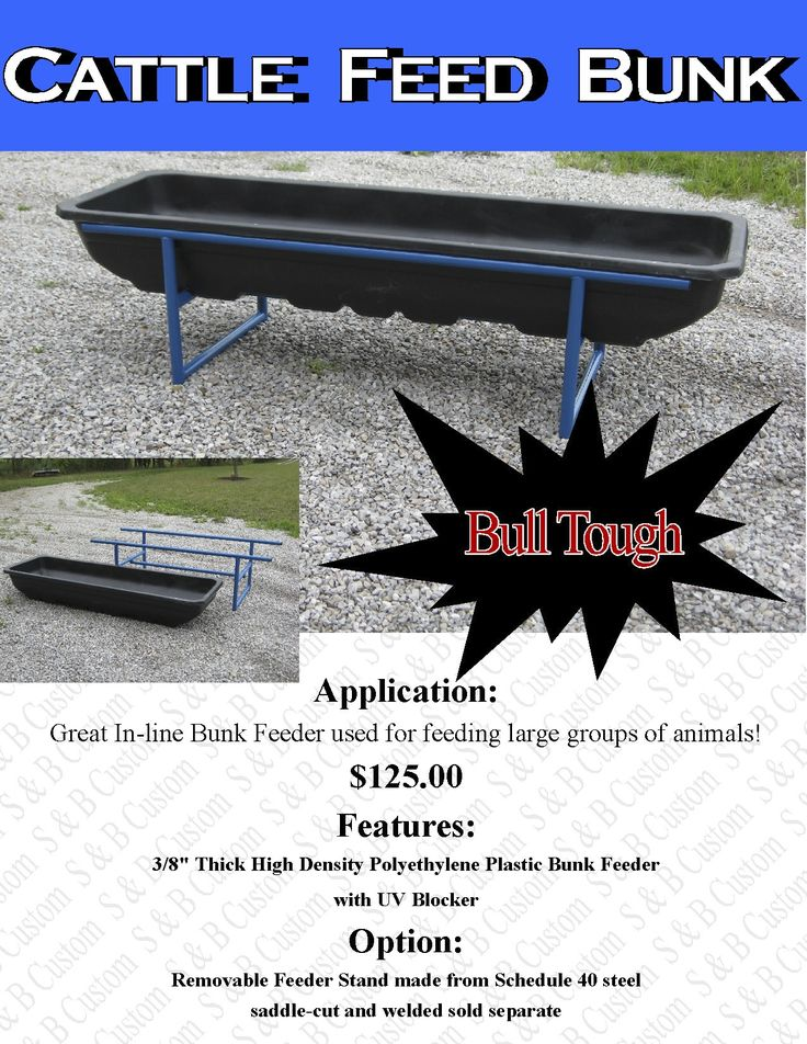 how to build a cattle feed trough