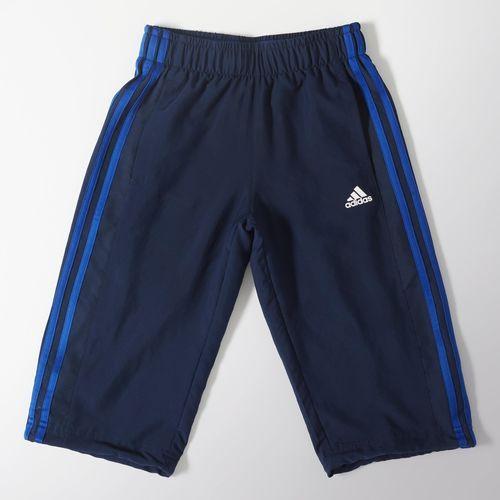 adidas Pantalón 3/4 de Training Essentials Tres Rayas Niños - Blue   adidas Colombia