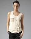 Sequin Pocket Tank - Tops - Casual - Storm