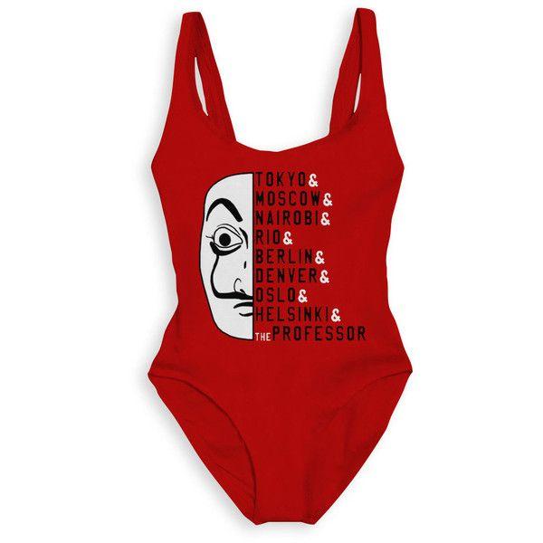 La Casa De Papel Swimsuit La Casa De Papel Bathing Suit Money Heist 90 Liked On Polyvore Featuring Swimwear One Swimsuits One Piece Swimsuit One Piece