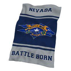 Nevada Wolf Pack NCAA UltraSoft Fleece Throw Blanket (84in x 54in)
