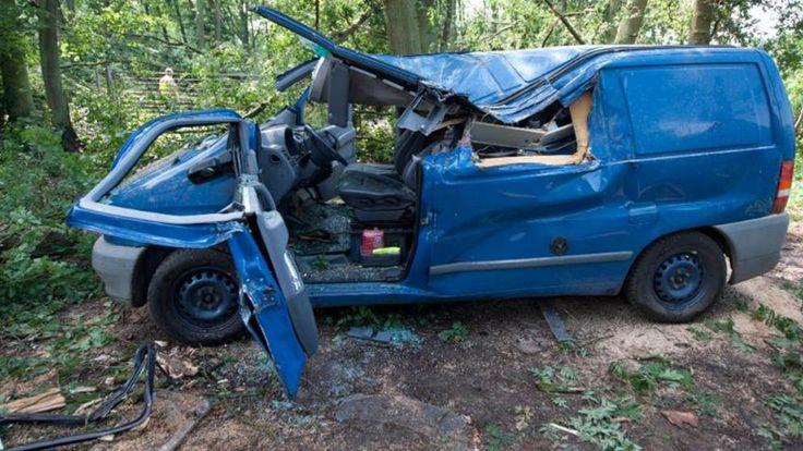 Während schwerer Unwetter in Deutschland wurde ein Mann von einem umstürzenden Baum erschlagen.