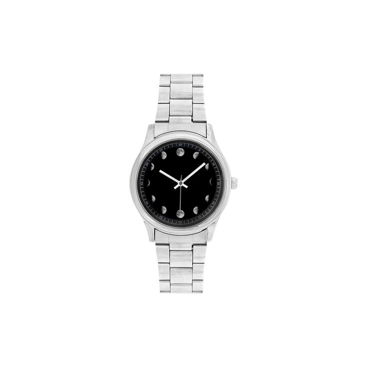 Conceptual Moon Phases Men's Stainless Steel Watch