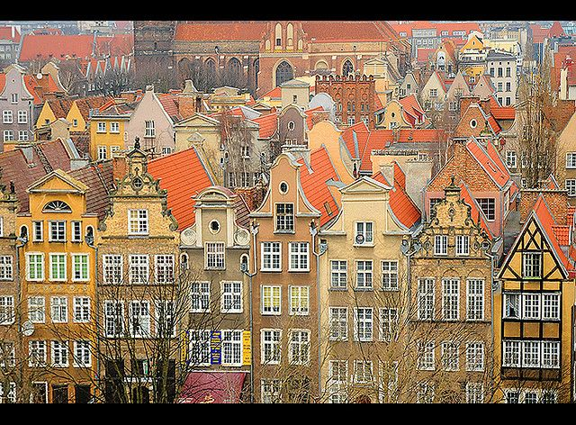 Gdańsk Market Square, Poland