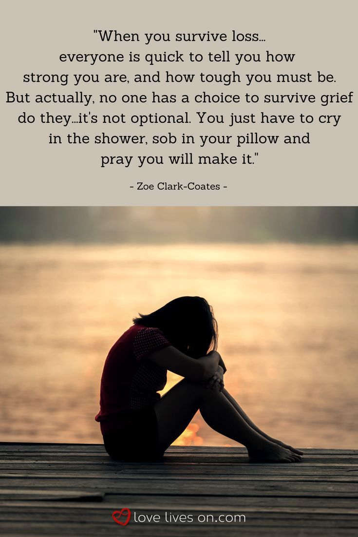 "SO well put...this miscarriage quote from Zoe Clark-Coates expresses her feelings about surviving loss after her miscarriage - ""no one has a choice to survive grief do they -it's not optional. You just have to cry in the shower,sob in your pillow and pray"