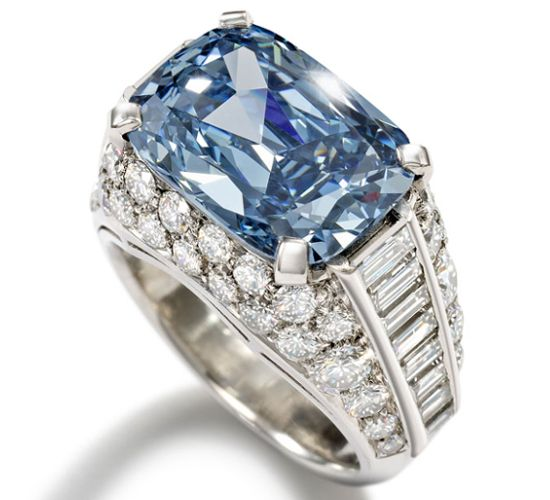 Most Expensive.... Worlds most expensive Blue Diamond set in a Bulgari ring sold for a record £6.2 million