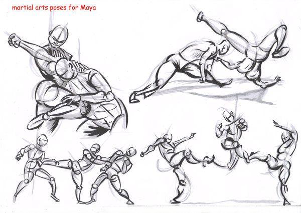 fighting poses for maya08 by AlexBaxtheDarkSide.deviantart.com on @deviantART