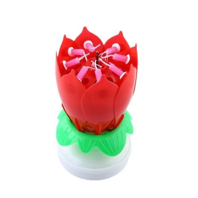 Lotus Birthday Candle
