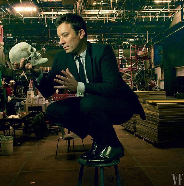 """""""I was devastated. I didn't mean anything by it. I was just trying to have fun."""" At the link in bio Jimmy Fallon finally opens up about his Trump interviewand that infamous hair ruffle. Photograph by Annie Leibovitz for V.F. February 2014.  via VANITY FAIR MAGAZINE OFFICIAL INSTAGRAM - Celebrity  Fashion  Politics  Advertising  Culture  Beauty  Editorial Photography  Magazine Covers  Supermodels  Runway Models"""