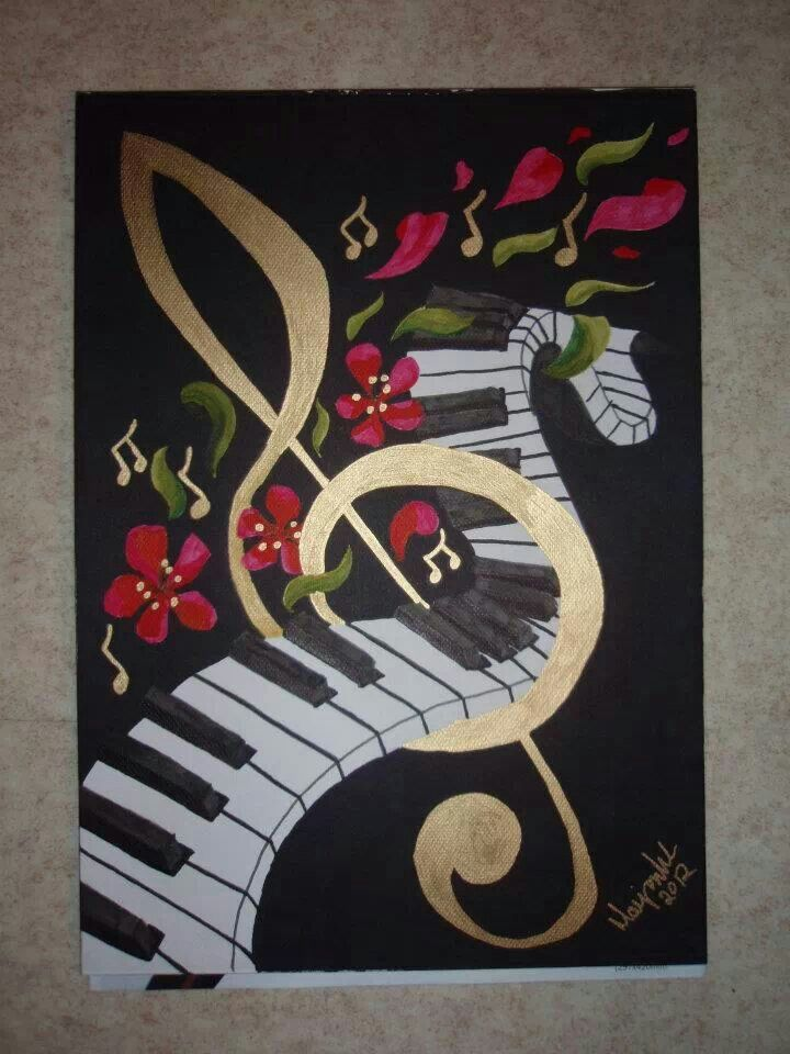 Music and flower