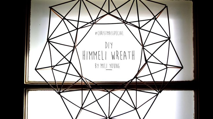 DIY | Christmas Special: Himmeli Wreath (Geometric Wreath)