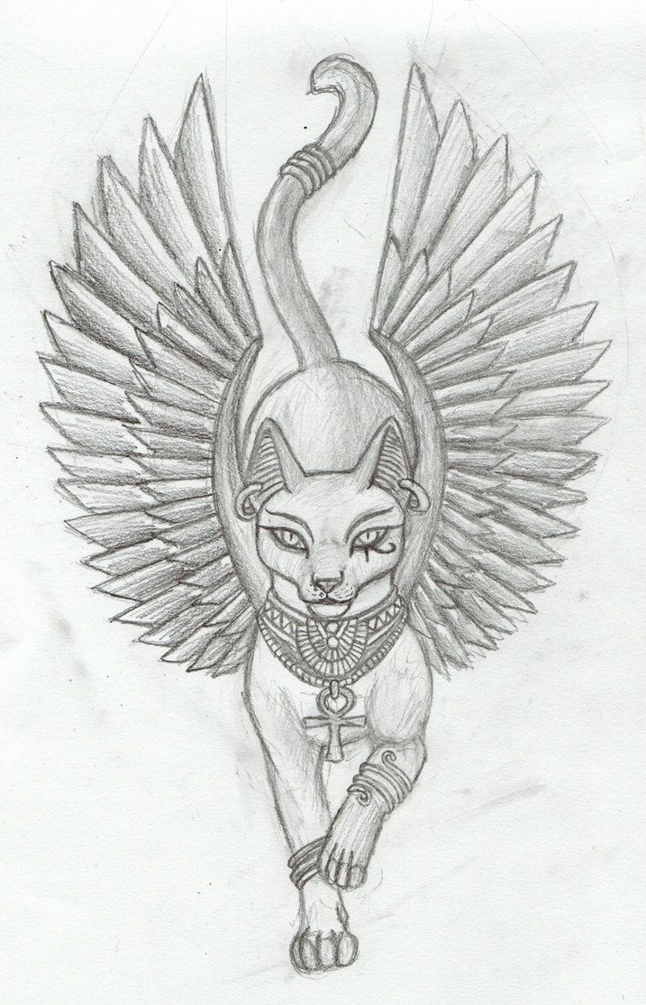 Songbird tattoo created at www mrsite com - Bastet Tattoo By Tharanthiel Traditional Art Drawings Fantasy 2010