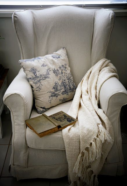Wingback Chair Slipcovers... At Long Last!   The Whimsical Wife